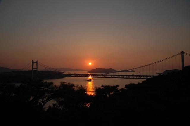 鷲羽山の夕日1