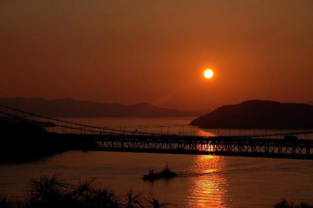 鷲羽山の夕日2