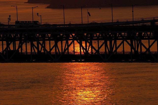鷲羽山の夕日4