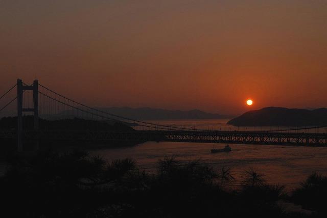 鷲羽山の夕日5