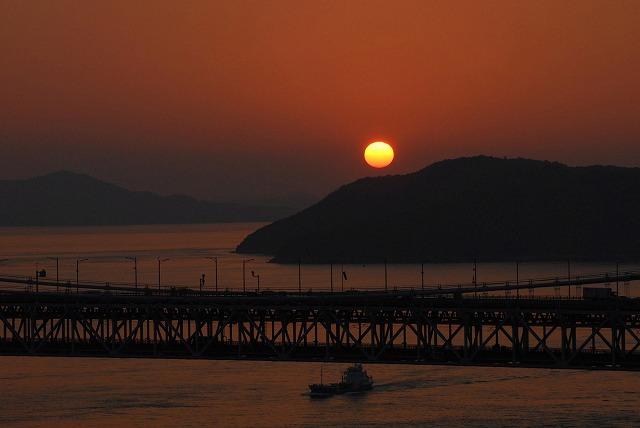 鷲羽山の夕日6