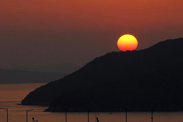 鷲羽山の夕日7