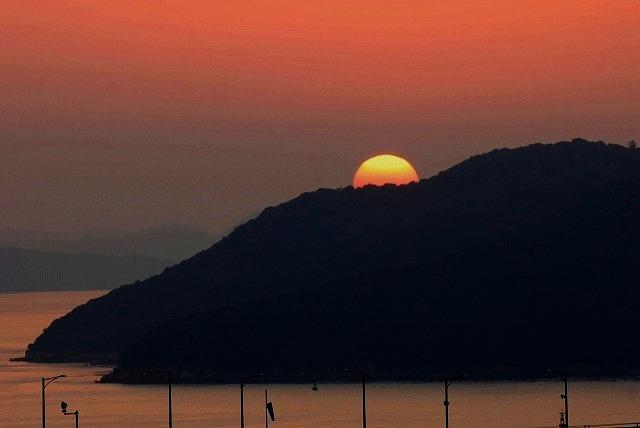 鷲羽山の夕日8