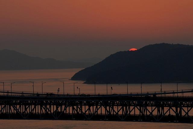 鷲羽山の夕日9