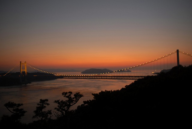 鷲羽山の夕日11