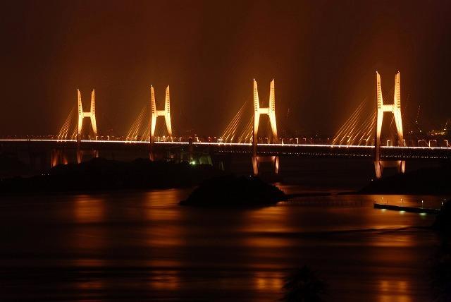 瀬戸大橋のライトアップ3