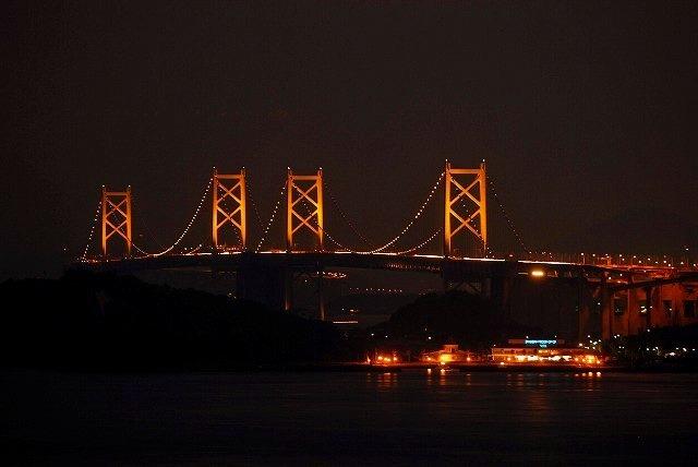 瀬戸大橋のライトアップ5