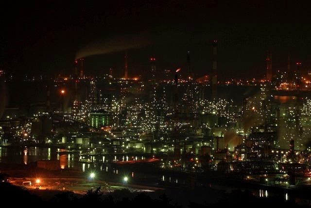 水島コンビナートの夜景1