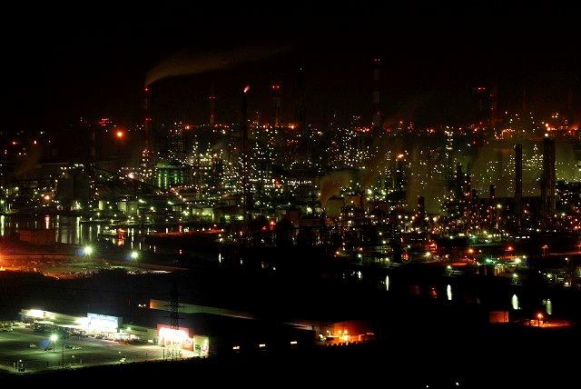 水島コンビナートの夜景2