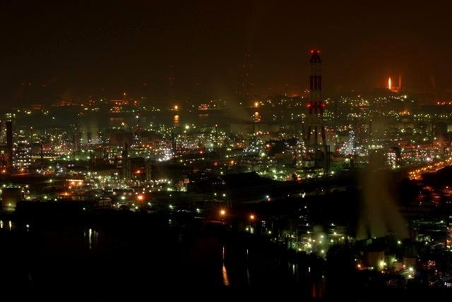 水島コンビナートの夜景3