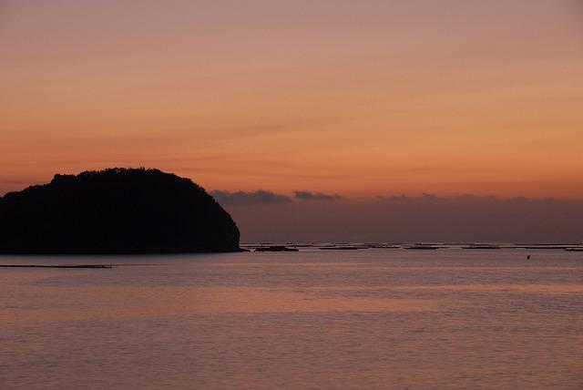 長島の朝焼け3