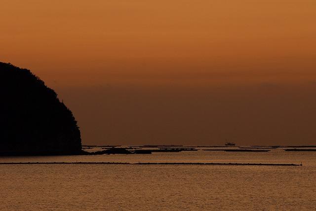 長島の朝焼け5