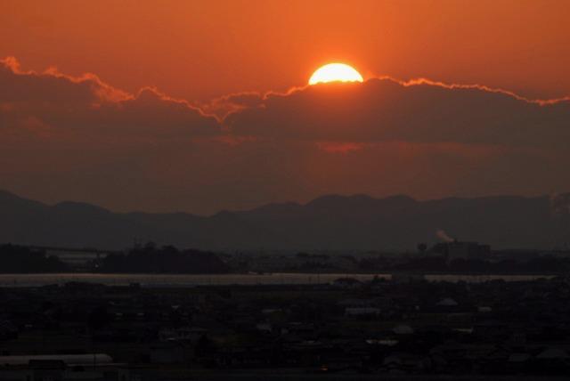 神崎梅園から見る夕日1