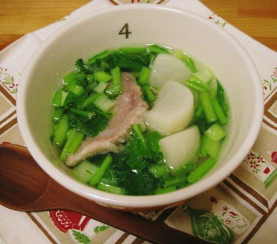 塩豚と蕪のあっさりスープ