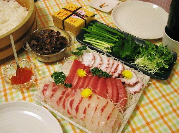 我が家は、手巻き寿司で・・・