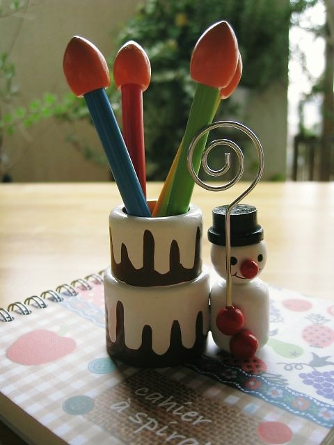 可愛いノート&色鉛筆