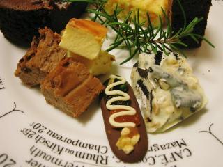 ホワイトチーズケーキ&チョコチーズケーキ  ☆  マンディアン  ☆   ホワイトチョコブロック