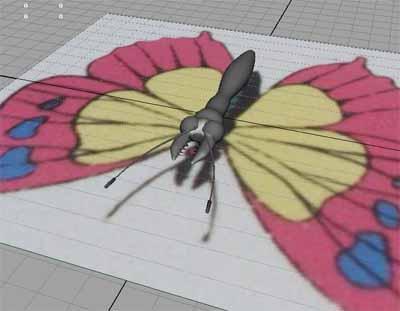 人間の細胞を食う蝶1