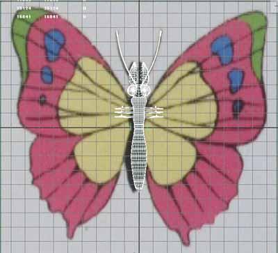 人の細胞を食べる蝶元画像+胴体