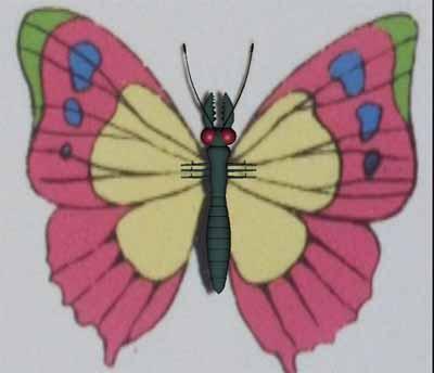 人の細胞を食べる蝶元画像+胴体レンダ