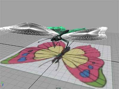 人の細胞を食べる蝶元画像との比較
