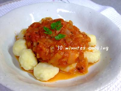 「モッツァレラレシピコンテスト」トマトとモッツァレラのソースDEウマウマニョッキ