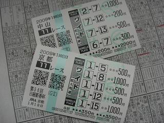日経新春 馬券