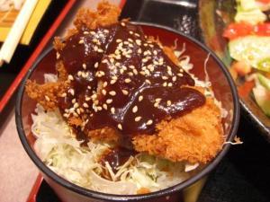 09060620かんながら・肉味噌たんたん冷し麺ミニ丼セット 味噌カツ丼