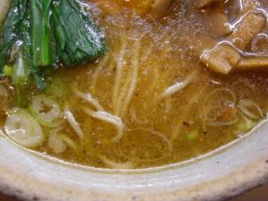09070121あってりめん・あってり麺(しお) スープアップ①