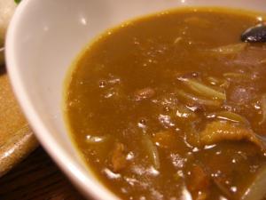 09070520あってりめん・7月限定、カレつけ(普通盛り) スープアップ