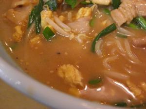 09070902きょうや・ニラタマ味噌ラーメン スープアップ