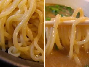 09101118稲葉・極太つけめん 麺アップ&麺 in スープ