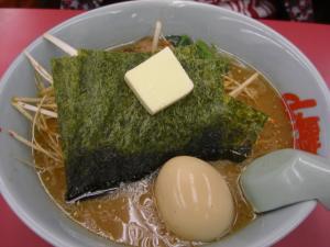 09112203山岡家・ピリ辛ネギ味噌ラーメン 690円 バター 50円 クーポン味玉トッピ