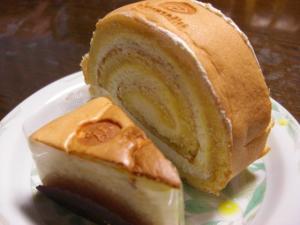 09112900グルマンディーズ・ロールケーキ&スフレチーズケーキ