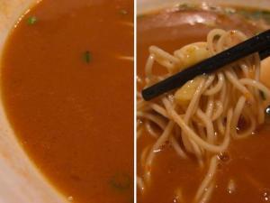 10010919秀虎・秀虎とま辛とんこつ スープ&麺アップ