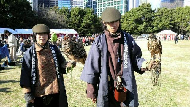 ベンガルワシミミズクのオーマと鷹の清流