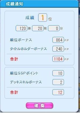 09年8月 SSP120勝