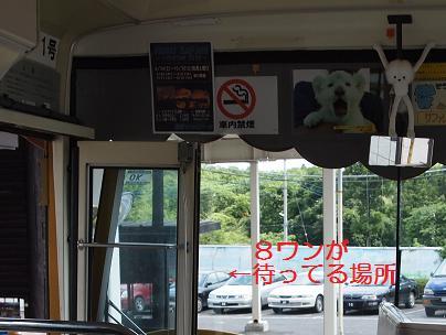 バスで出発時間まで長いこと待ちました
