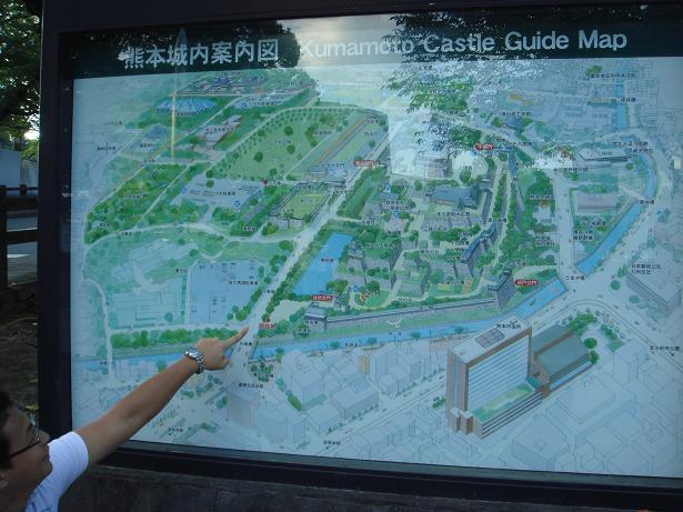 熊本城のマップ