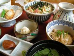 8.おぼろ豆腐膳全体