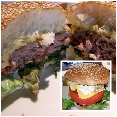 ハンバーガー断面