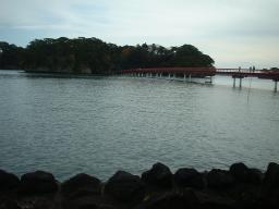 福浦島と赤い橋