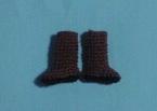レース編みのブーツ(横)