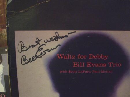 ビル・エヴァンス(p)の直筆サイン入りLP