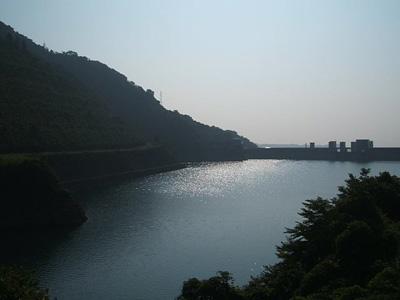 ダム湖(先生撮影)