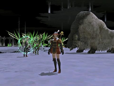 第二層:ボスの雄羊です、黒さん達が盾です^^;
