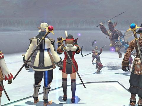 雑魚の最後のグループなんです、さすが竜騎士、ジャンプしてます^^