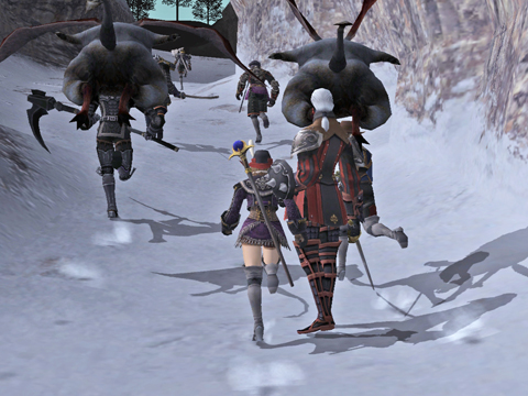 ヌエ塔に向かって登って行きます、ここは敵も同じ方向に行きますよ!