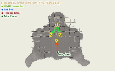 役に立たないですけどね、オメガの棲家の地図・・間取り図?