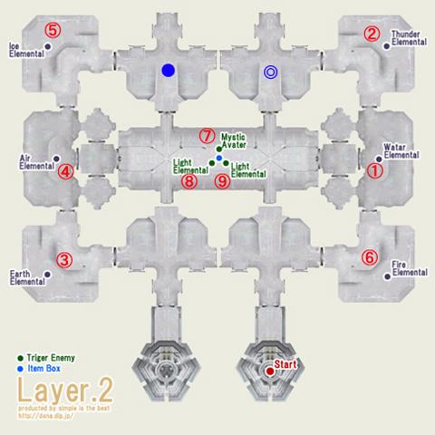 テメナス中央塔2階の地図ですよ!